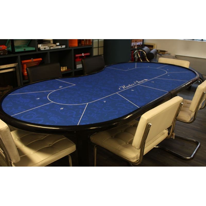 table de poker 10 joueurs pliante bleu hector saxe paris. Black Bedroom Furniture Sets. Home Design Ideas