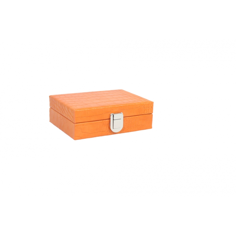 Coffret dominos cuir impression crocodile orange hector - Jeux de crocodile sous la douche gratuit ...