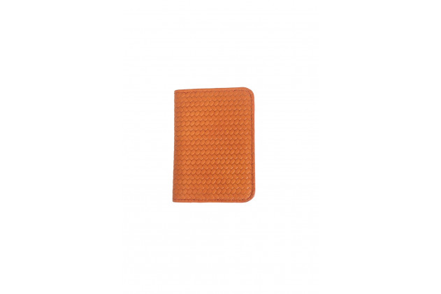 Paul - Card Holders Couture leather Orange