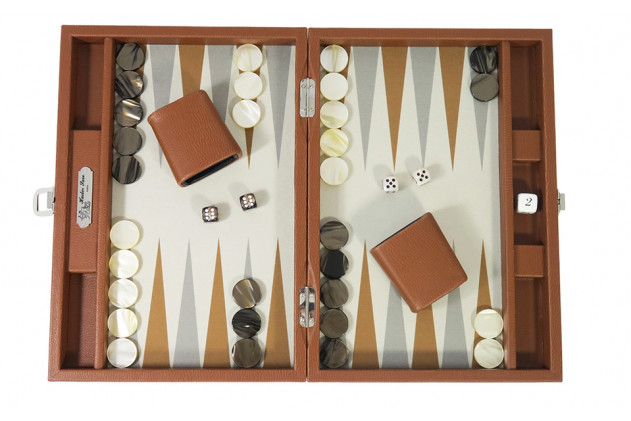 Baptise - Backgammon toile buffle medium Marron
