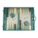 Basile - Backgammon toile buffle large Vert