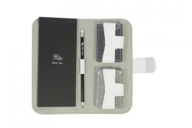 Étienne - Couture leather card case White
