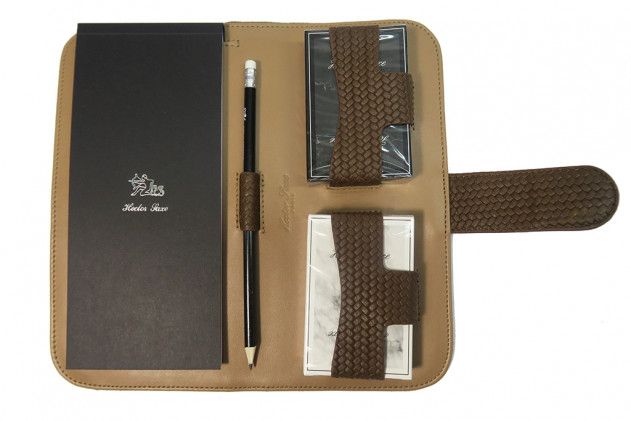 Étienne - Couture leather card case Terre