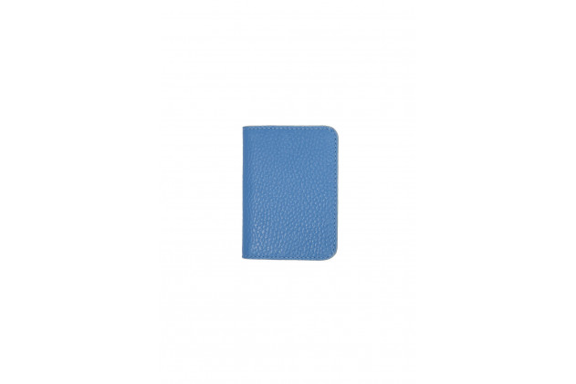Paul - Card Holders Buffalo leather Bleu Ciel