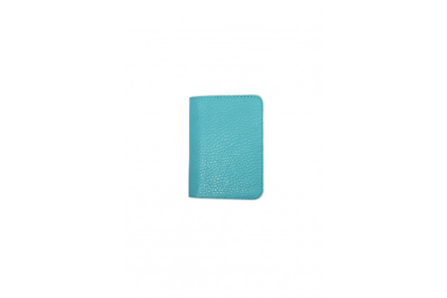 Paul - Card Holders Buffalo leather Turquoise