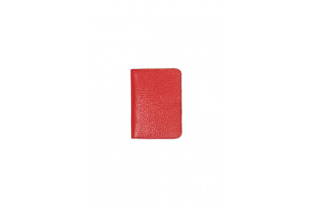 Paul - Card Holders Buffalo leather Red