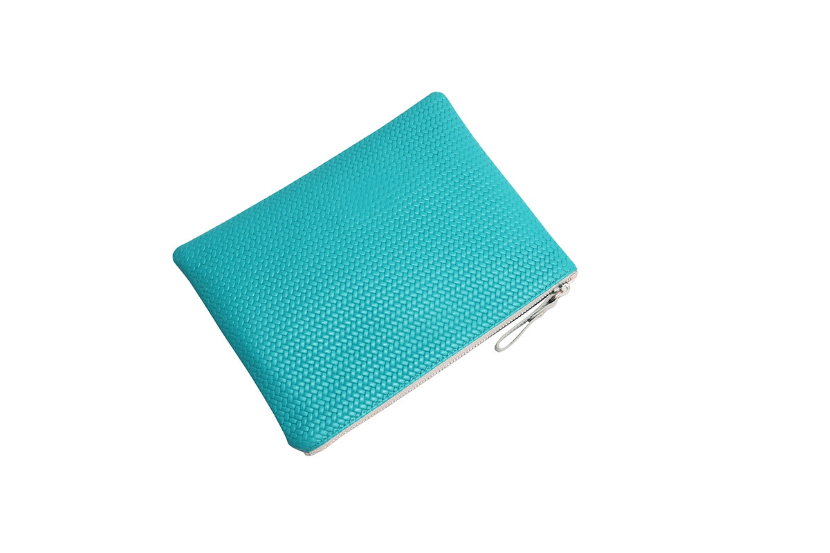 Paolina - Clutch Couture leather Turquoise