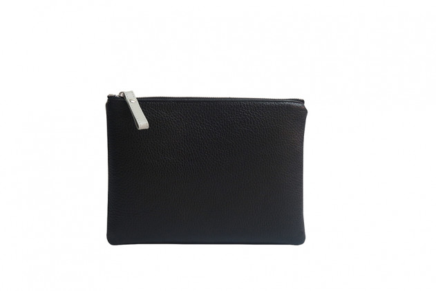 Paolina - Clutch Buffalo leather Black