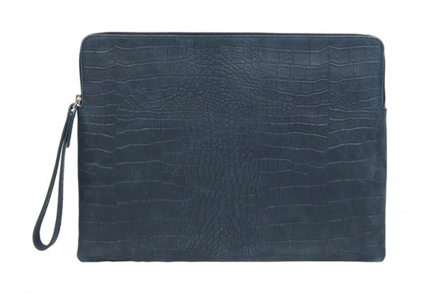 Paolo - Backgammon clutch alligator leather effect