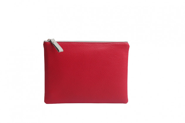 Paolina - Clutch Buffalo leather Red