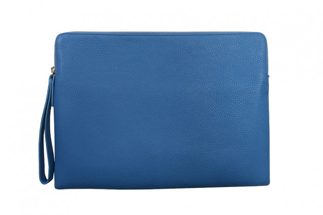 Paolo - Backgammon clutch buffalo leather Light Blue
