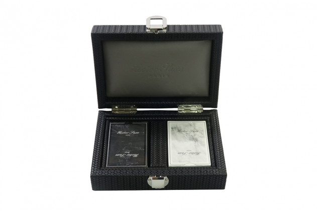 Cards set Couture leather Black