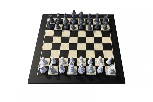 Maple chess board Black