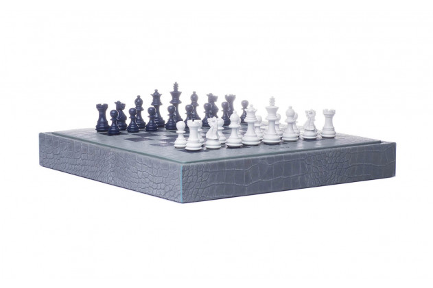 Chess box Alligator effect leather Ciel