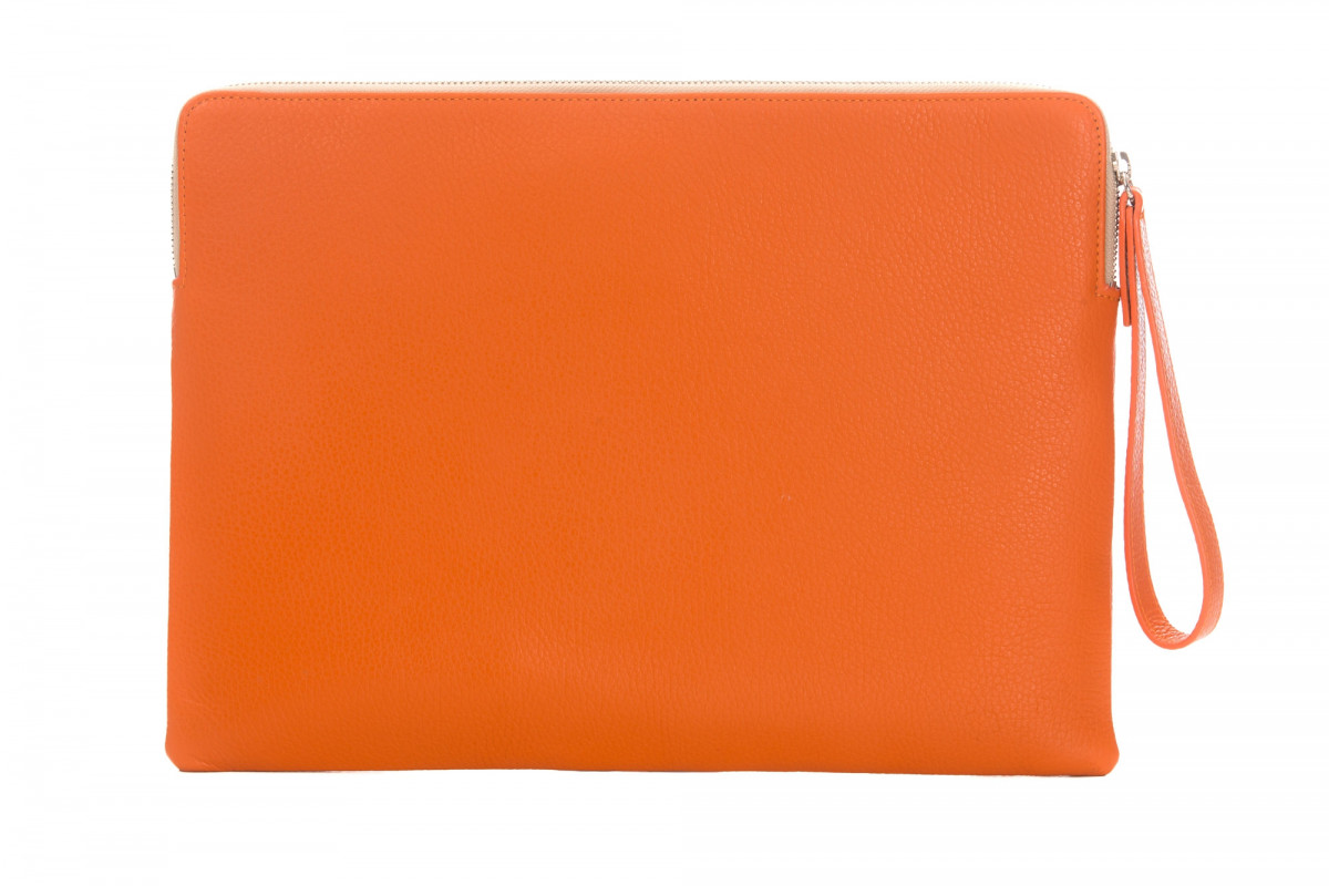 Paolo - Backgammon clutch buffalo leather Orange