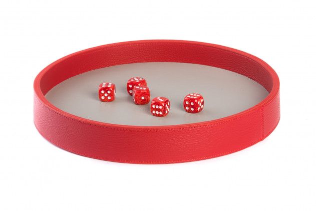 Dices board Buffalo leather Red