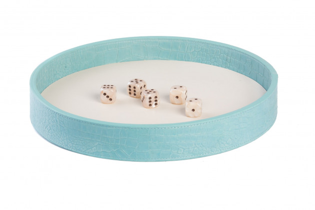 Dices board Alligator leather effect Turquoise