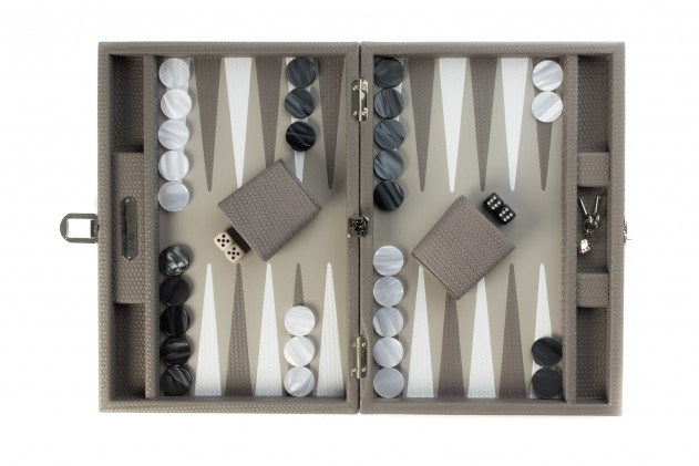Camille - Backgammon Couture leather medium Acacia
