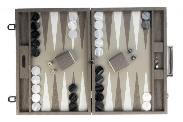 Camille - Backgammon couture leather competition Acacia