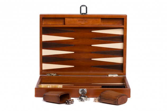 Louis - Backgammon medium patinable leather Cognac