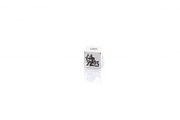 Doubling cube metal 16mm silver