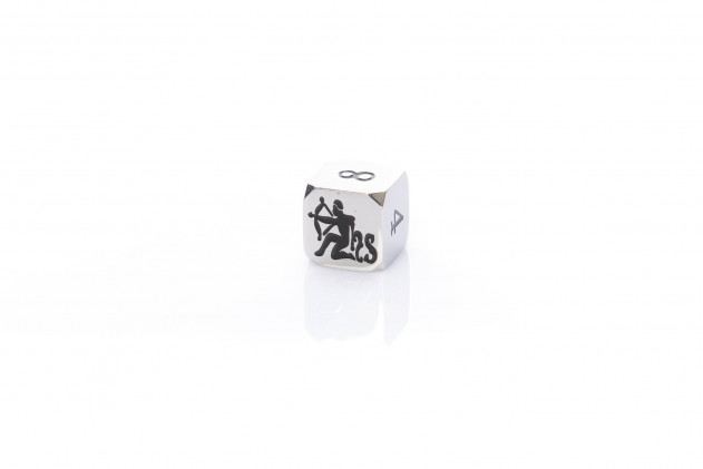 Doubling cube metal 20mm silver