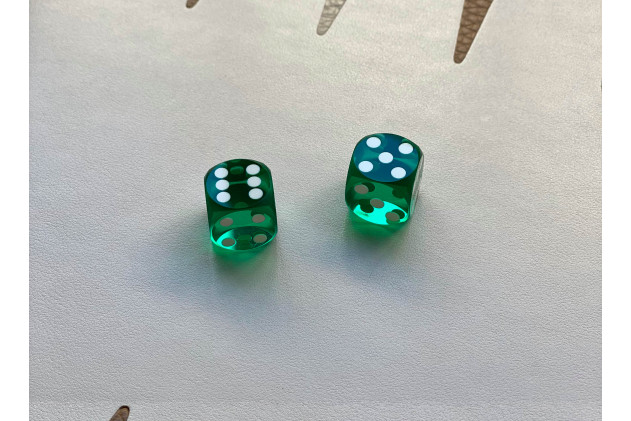 Precision dices 14mm green