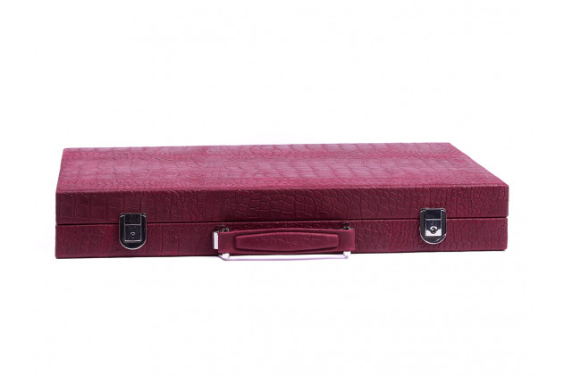 Chess box shagreen effect leather Taupe