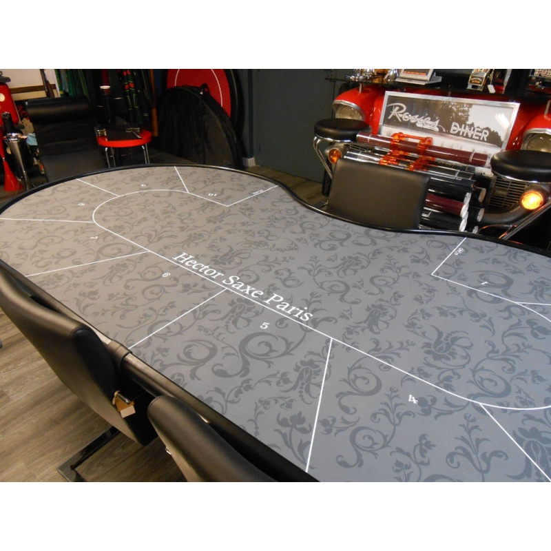 table de poker 10 joueurs pliante grise hector saxe paris. Black Bedroom Furniture Sets. Home Design Ideas