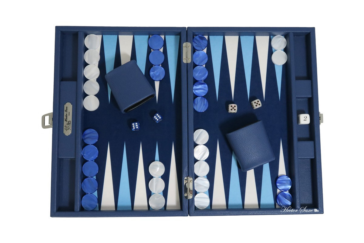 BASILE - BACKGAMMON TOILE BUFFLE MEDIUM NUIT