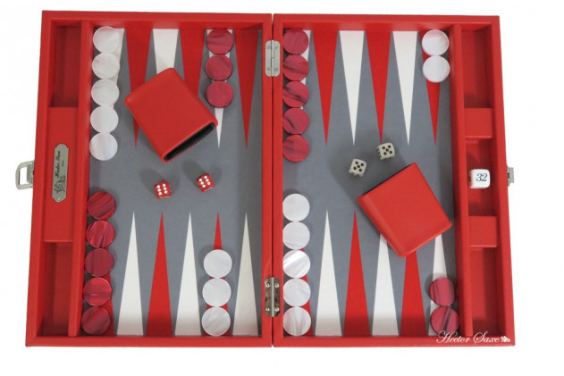 BASILE - BACKGAMMON BUFFALO CANVAS MEDIUM ROUGE