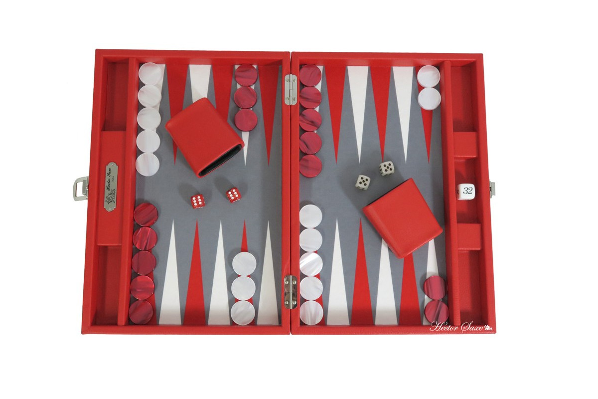 BASILE - BACKGAMMON TOILE BUFFLE MEDIUM ROUGE