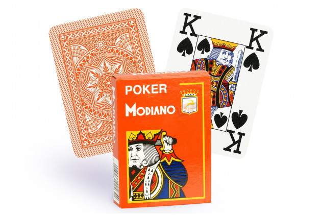 Jeu de Cartes Modiano Orange