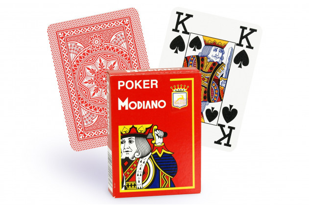 Jeu de Cartes Modiano Rouge