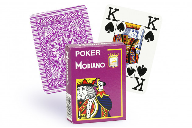 Jeu de Cartes Modiano violet